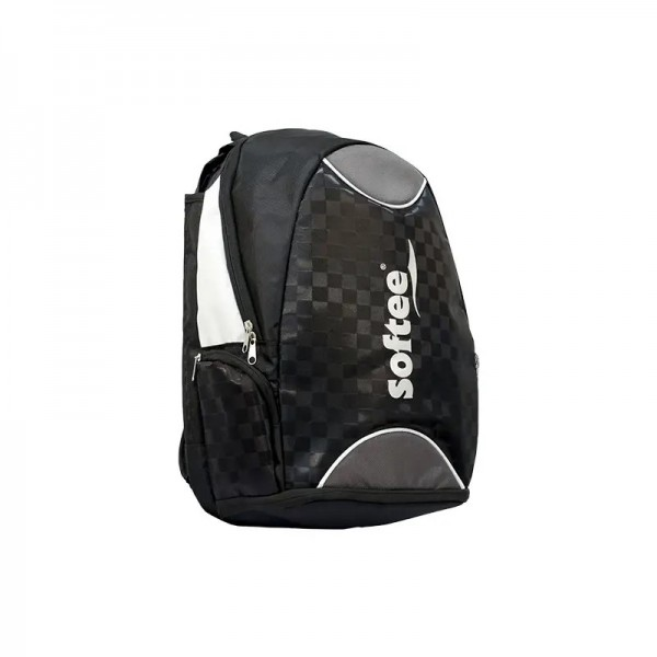MOCHILA SOFTEE CHECK-IN NEGRA/PLATA
