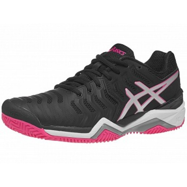 Asics Resolution 7 negro-Rosa