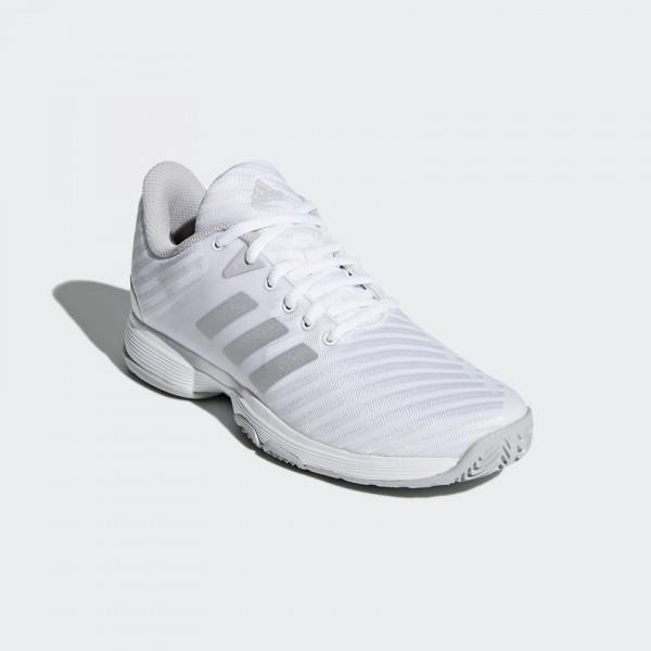 Adidas Barricade court blanca plata woman