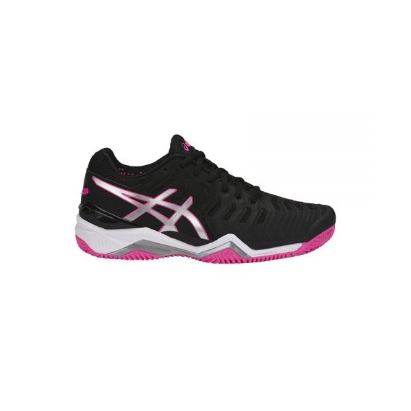 ASICS GEL RESOLUTION 7 CLAY NEGRO ROSA